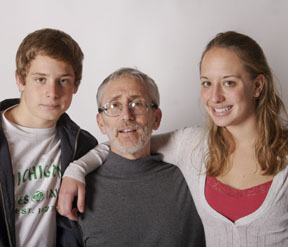 Paul Turke with his children